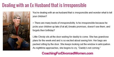 dealing with ex spouse dating