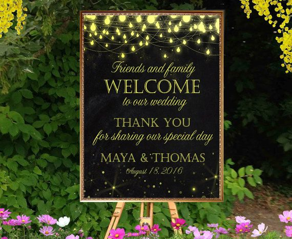 Printable Welcome wedding sign chalkboard by PrintableMemoriesCo