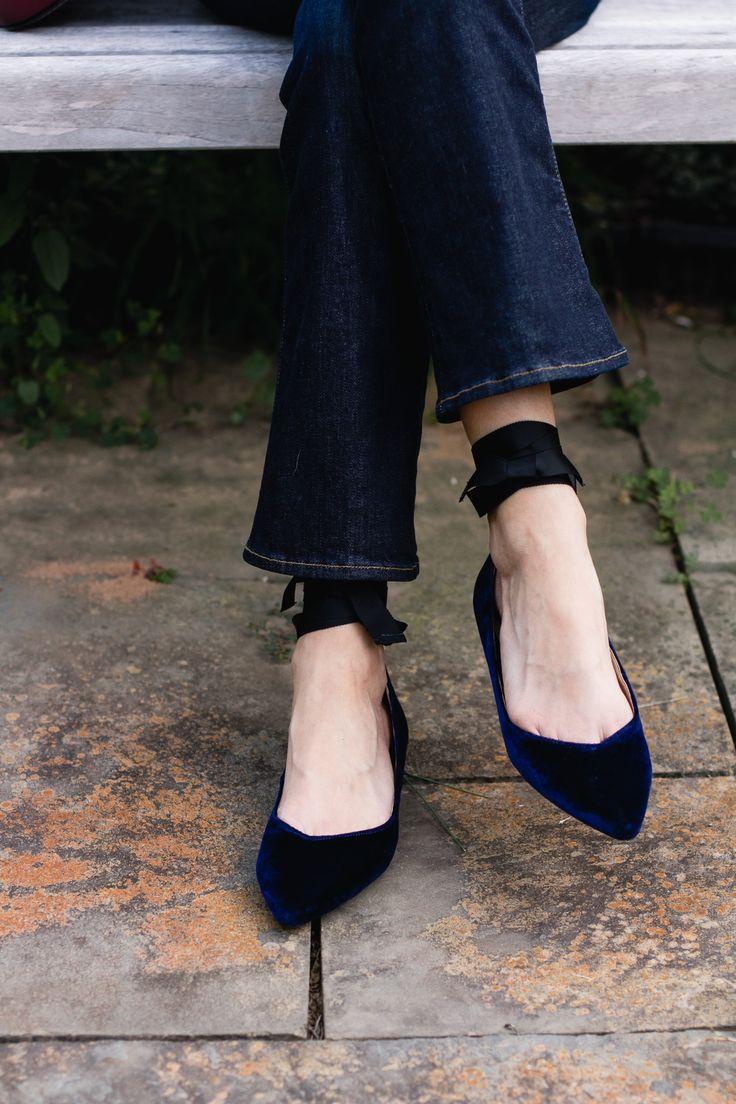 velvet lace-up flats · Tory BurchTrousersFlatsVelvetPantsApartmentsBallerinasFlat  Shoes