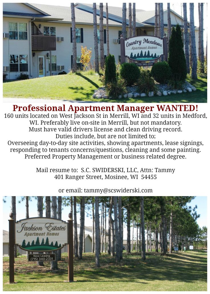 anyone interested in apartment manager job in merrill two great properties - Apartment Manager Jobs