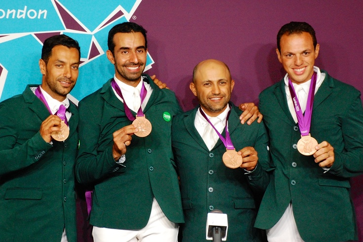 The #Saudi equestrian team that won the bronze medal in #London2012 #Olympics