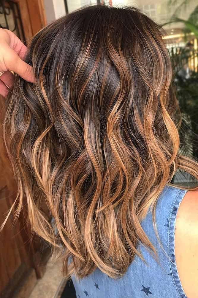47 Highlighted Hair For Brunettes Coiffure Pinterest