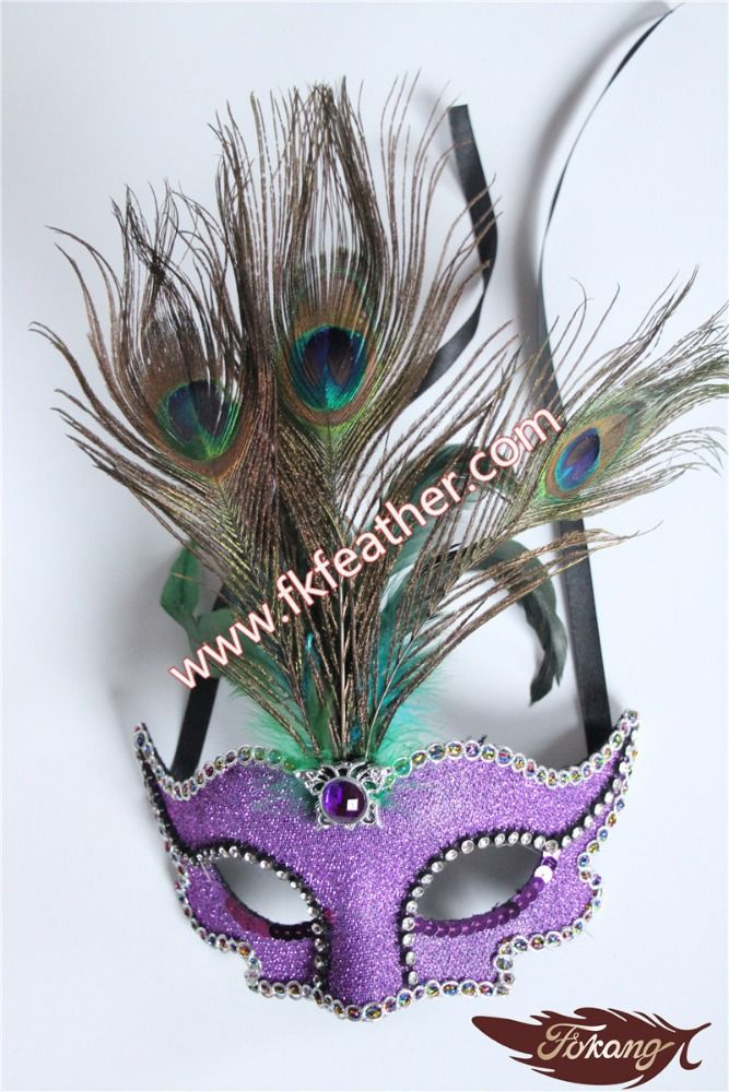 カーニバルマスク孔雀の羽マスクでクリスタルダイヤモンド用ベネチアンマスク卸売