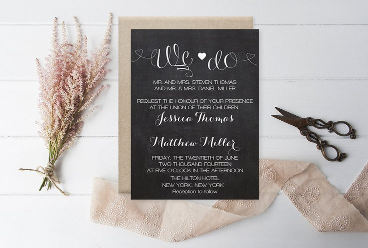 11 best wedding invitations images on pinterest wedding invitation chalkboard we do wedding invitation template chalkboard heart wedding invitation diy printable editable pdf templates diy you print stopboris Choice Image