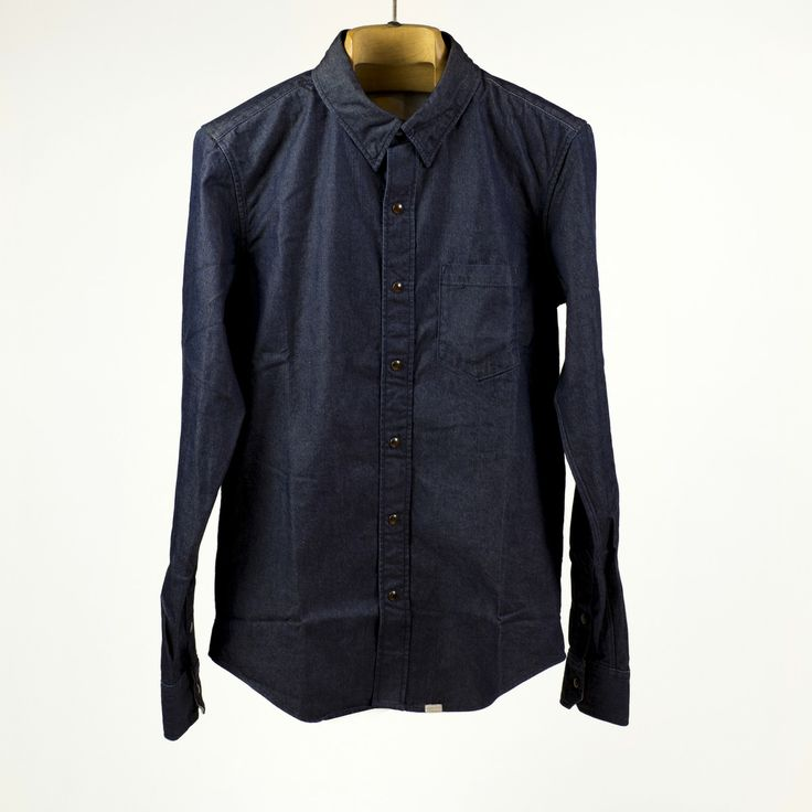 Big John - Smart denim shirt, one wash indigo