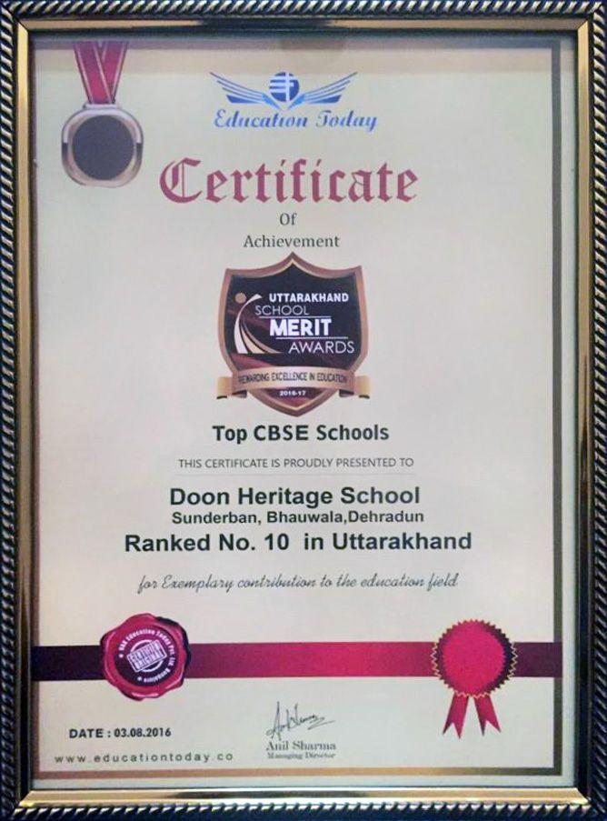 Principal's Message   Doon Heritage School