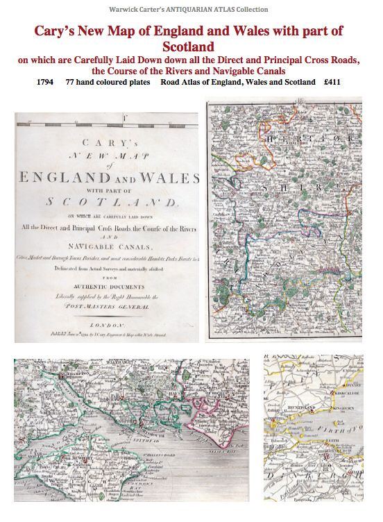 Cary's New Map of England and Wales with part of Scotland 1794