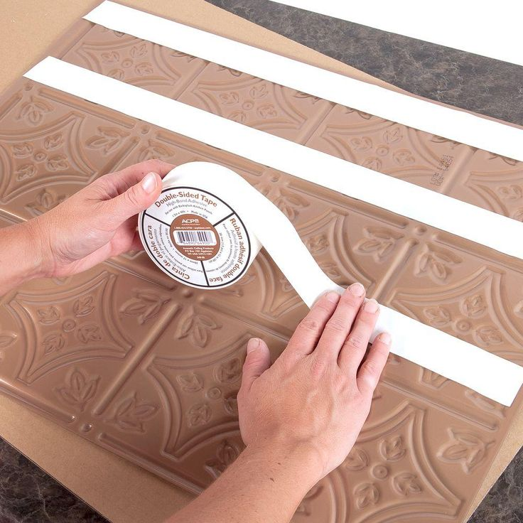 Fasade Double Sided Tile Decorative Wall Tile Adhesive Tape-B49-00 - The Home Depot