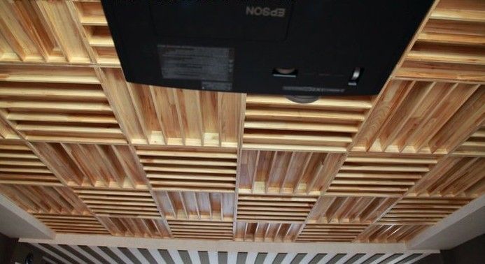 professional studio/recording room QRD Sound diffusers ceiling acoustic panel acoustic skyline diffuser