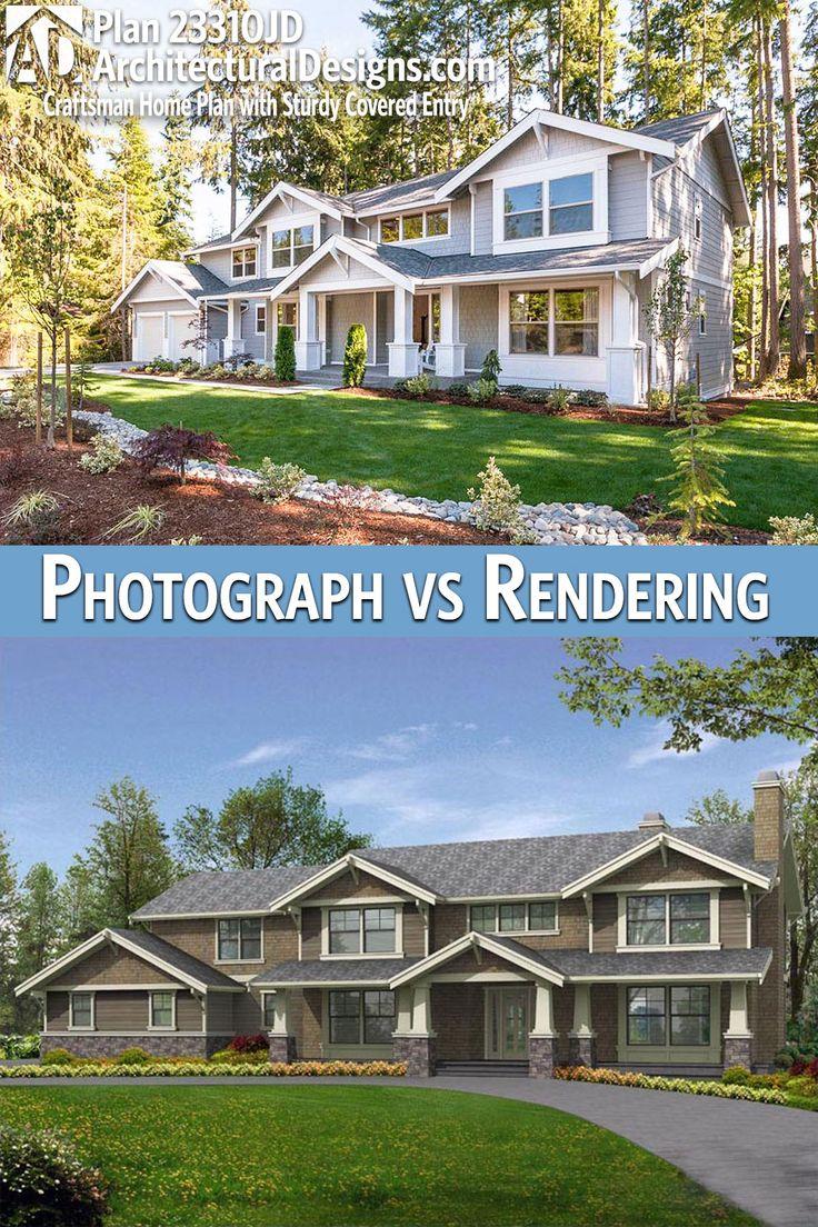 Architectural Design Craftsman House Plan 23310JD gives