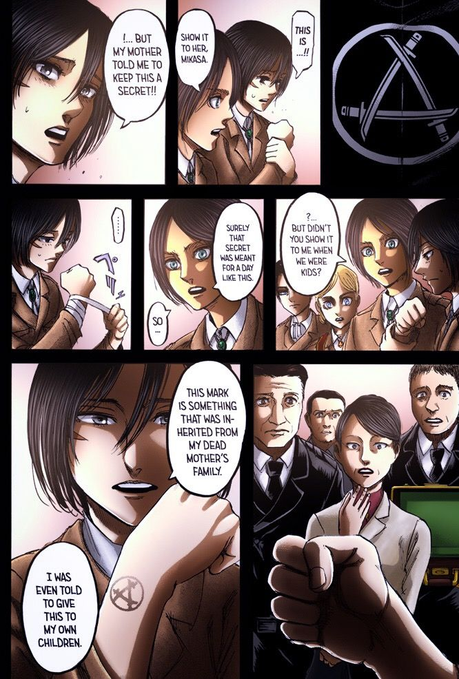 Mikasa tattoo Snk chapter 107 | attack on titian | Attack on