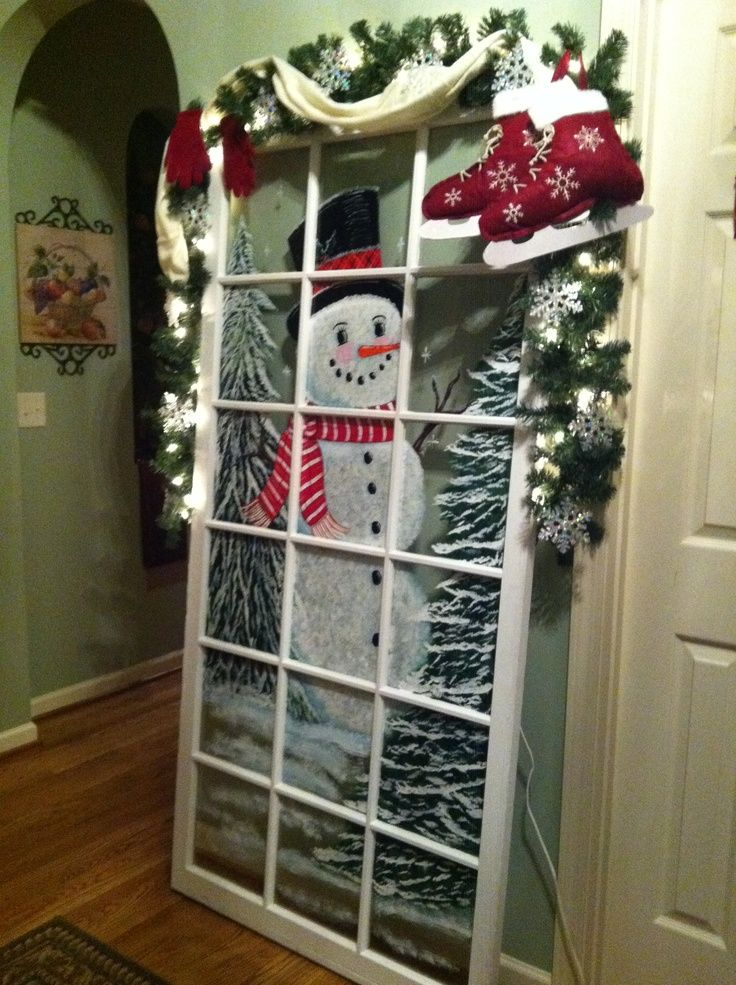 painted snowman pictures | Painted snowman door | ~*~ Christmas ~*~