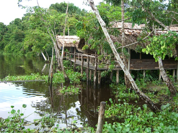 Palafitos in the Orinoco river in Venezuela.