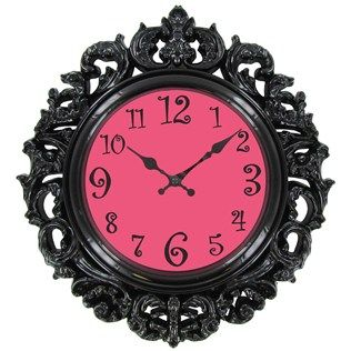 Black & Pink Victorian Style Wall Clock | Shop Hobby Lobby...I want for K's Room!!!