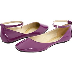 Yes, they're purple. And I'm gonna wear 'em with lace pantyhose, too. Maybe I'll get a tattoo around my ankle while I'm at it. LIVIN' ON THE EDGE.
