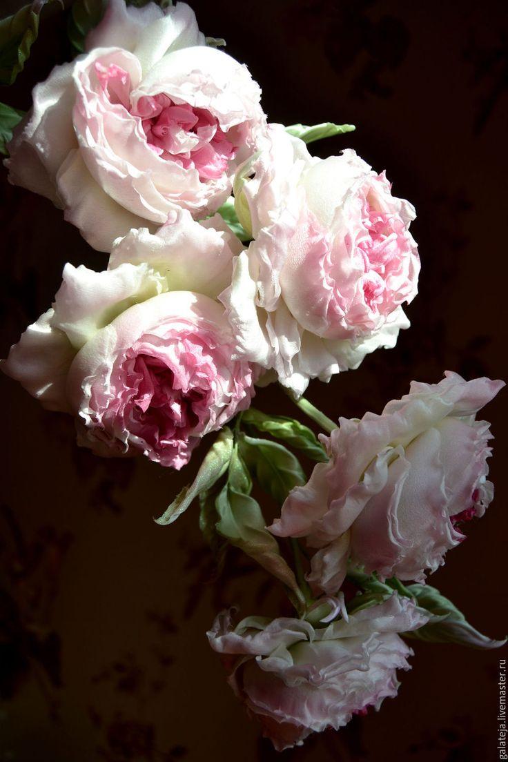 Купить Цветы из шелка Роза Королева грез - бледно-розовый, розы, роза ручной работы