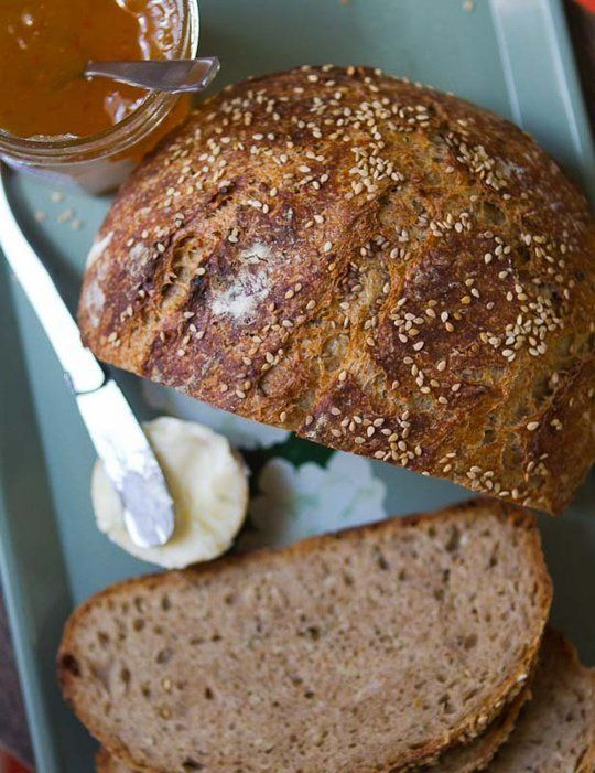 Seeded Whole Wheat Overnight Bread