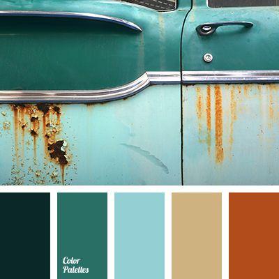 Orange Turquoise Brown Grey Color Scheme
