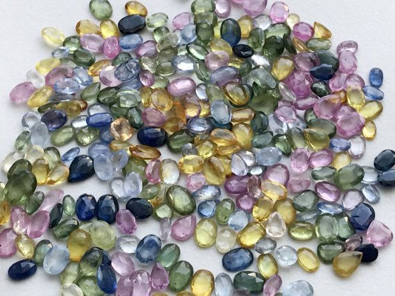WHOLESALE 10 Cts 20 Pcs Multi Sapphire Faceted by gemsforjewels