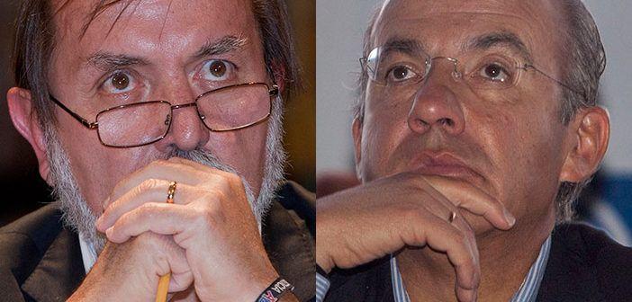Felipe Calderón critica a Epigmenio Ibarra y éste lo reta a un debate público