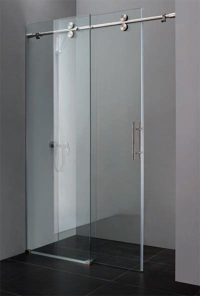 Bathtub Shower Enclosures | ... 59 Satin Nickel Bath Tub Doors 2 Panel Frameless Doors for Bathtubs