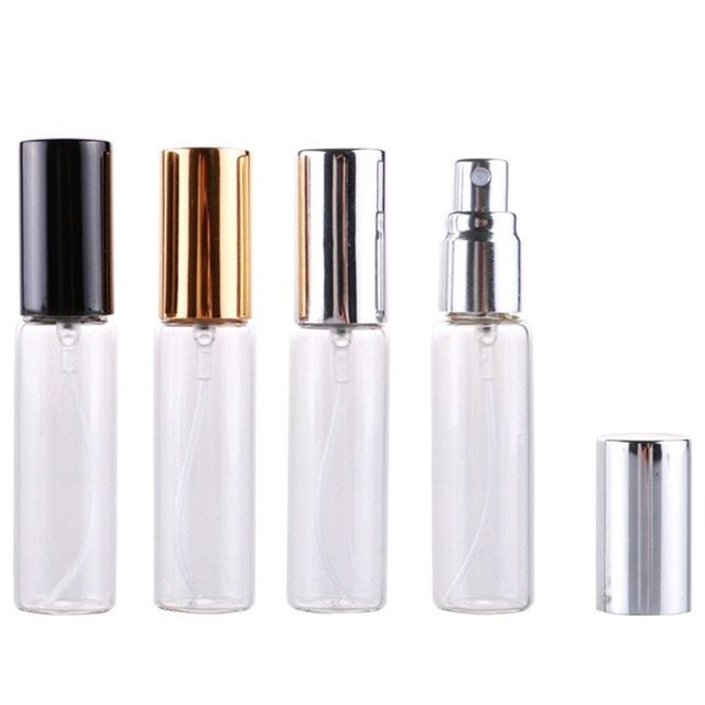 1pcs 10ml Portable Colorful Glass Refillable Perfume Bottle With Atomizer Empty Cosmetic Containe Refillable Perfume Bottle Cosmetic Containers Perfume Bottles