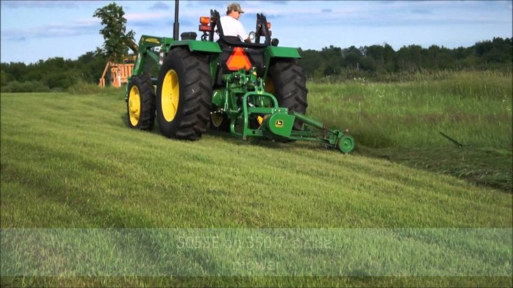 Just a quick video on our John Deere 5055e cutting with the 350 7' John Deere Sickle Mower.  We had a lot of requests since the last video to show the sickle mower in action.