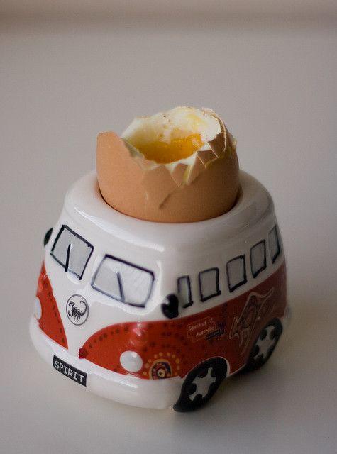 VW camper egg cup