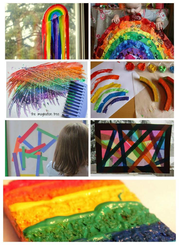 Toddler Arts And Crafts Projects | rainbow art and crafts for young kids