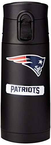 NFL New England Patriots Double Wall Stainless Steel Flask Medium -- Click on the image for additional details.