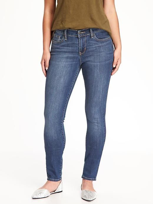 Old navy - Curvy Mid-Rise Skinny Jeans - faded blue wash