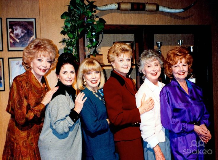 "Marie Windsor photos | Marie Windsor, Margaret O'Brien, Terry Moore, Angela Lansbury, Betty Garrett and unknown on ""Murder She Wrote"""
