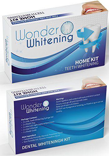 BEST RATED Teeth Whitening Kit ★ 3 Gel Syringes, 1 LED Accelerator Light, 2…