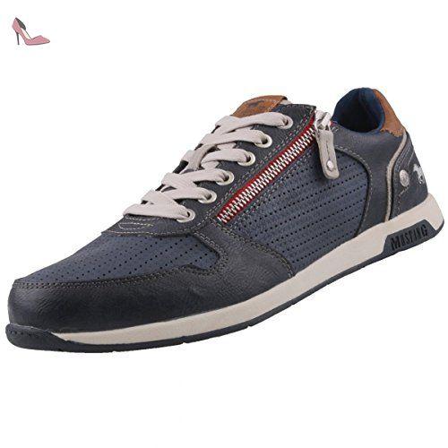 Mustang Schnürhalbschuh, Sneakers Basses Femmes - Gris - Grau (272 Graphit/Multi), 41 EU