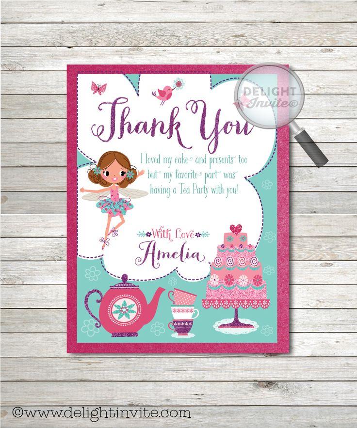 7 best Beautiful Fairy Tea Party Birthday Invitation Set! images on ...
