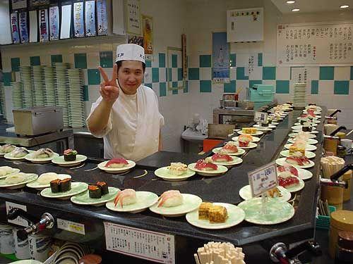 I love sushi go rounds aka conveyor belt sushi