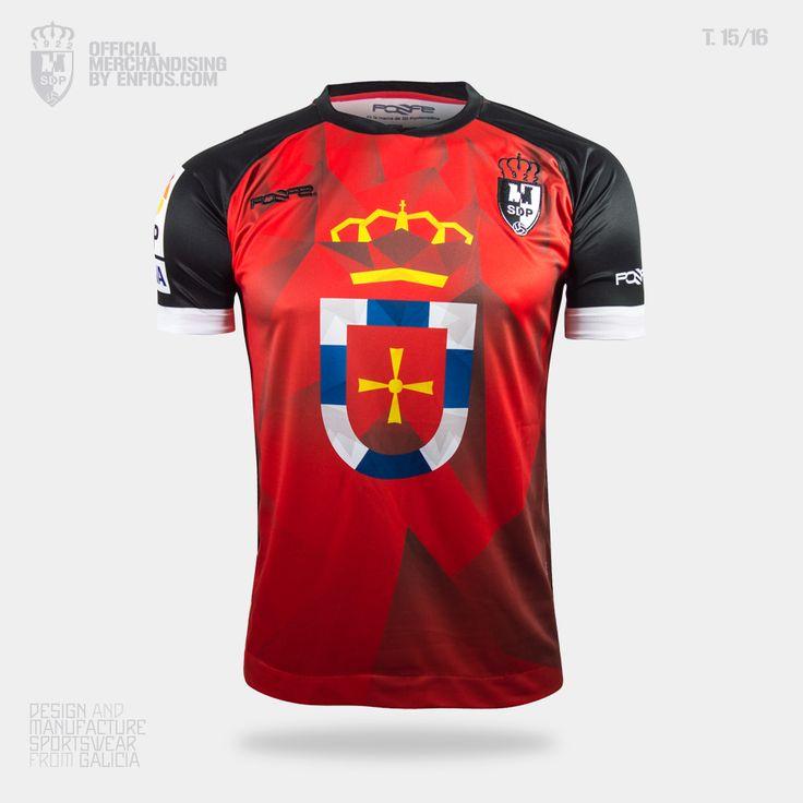 Camiseta oficial S. D. PONFERRADINA, pretemporada 2015/16, Liga Adelante.