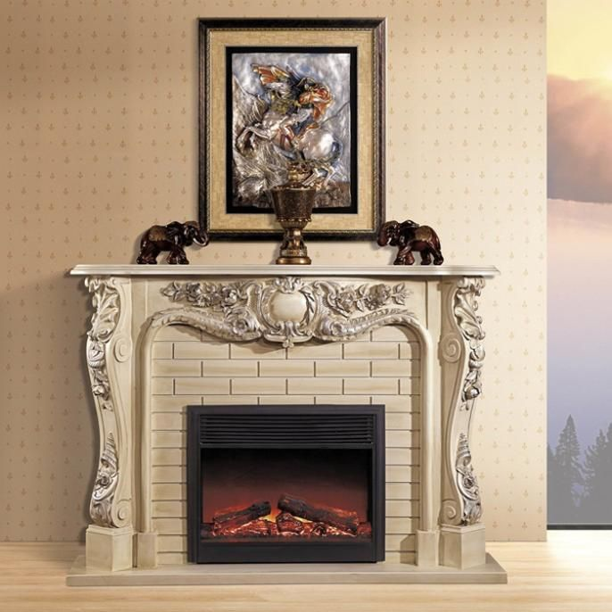 European American Wood Decorative Fireplace Mantel Send Stoves White Do The  Old 1.65 M Electric Heating