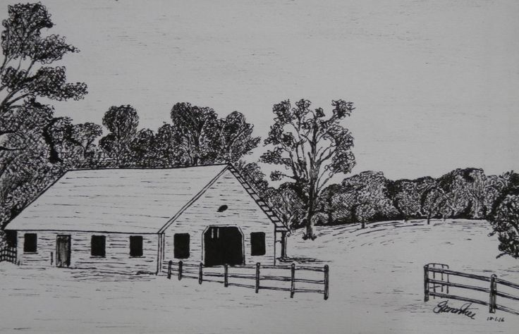 Barn Drawing with Pen by ArtLover1980