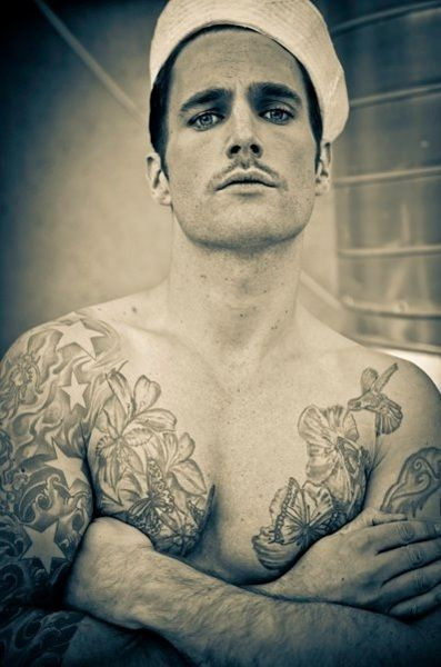 vintage tattooed sailor....a bad boy, no doubt