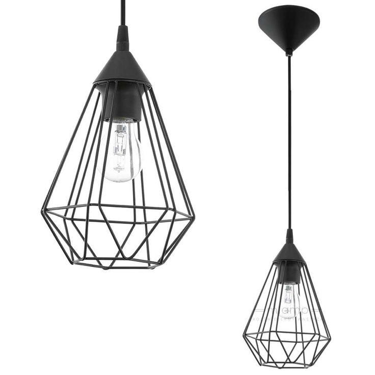 Industrialna LAMPA wisząca E94187 druciana OPRAWA zwis IP20 drut czarny
