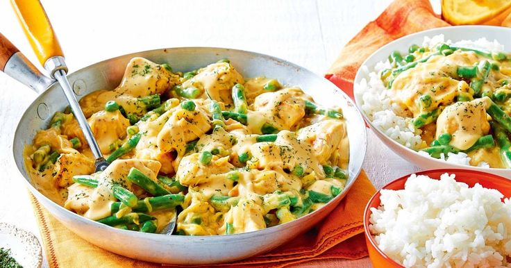 For a quick, 30-minute meal try this tasty honey mustard chicken and vegetables with rice.