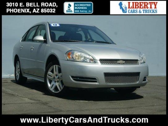 Sedan, 2012 Chevrolet Impala LT with 4 Door in Phoenix, AZ (85032)