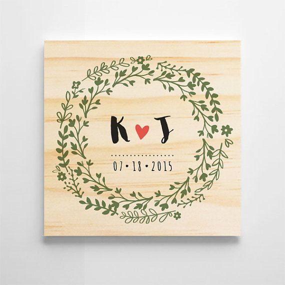 Personalized Wedding Gift Custom Sign Wooden Anniversary