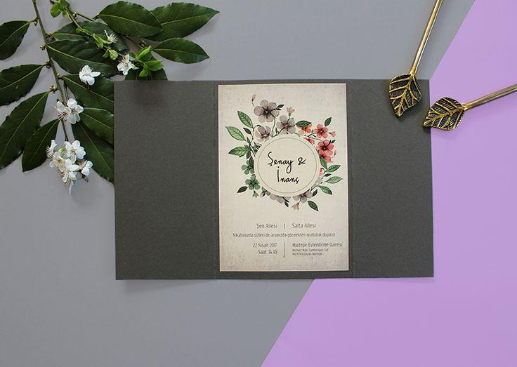 Paper Street Co - Vintage Çiçekler  #davetiye #davetiyemodelleri #kartpostal #kartpostaldavetiye #dugun #rustik #elyapimi #tasarım #davetiyetasarım #kisiyeozel #vintage #vintagedavetiye #nisan #ciceklidavetiye #evlilik #invitation #wedding #desing #weddingideas #vintagecicekler