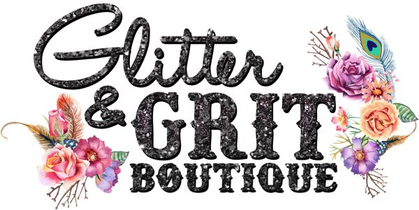 Glitter & Grit Boutique - website and logo by #2friendsdesigns :-: Call us today! 541.654.4199