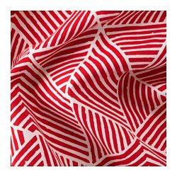 NUNNERÖRT Gardinenpaar, rot/weiß - 145x300 cm - IKEA
