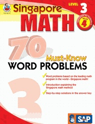 Welcome to Singapore Math, the leading math program in the world! This book is designed to help fourth grade students master word problems, which are often tricky and frustrating, the Singapore Math way. The activities in this book teach students important math skills, such as diagrams, number bonds, the counting on method, and mental calculation, that help in solving word problems.