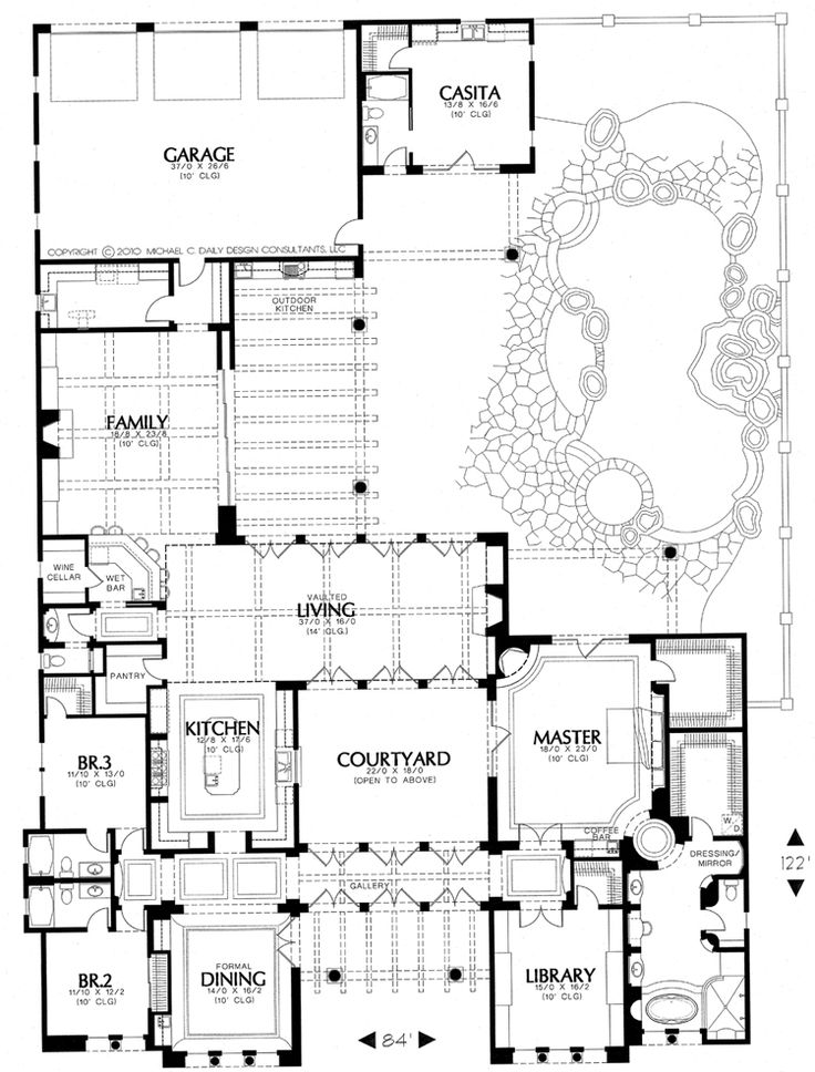 Courtyard House Design Cubed: Courtyard, Wow This Floor Plan Rocks!