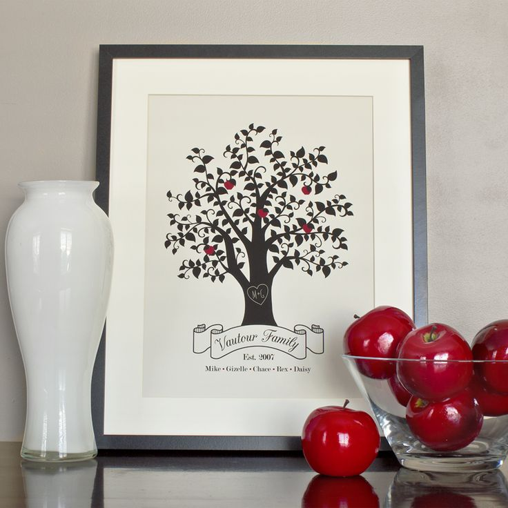 ENTER TO WIN one 8x10 ready-to-frame Family Tree Print by Simple Sugar Design!